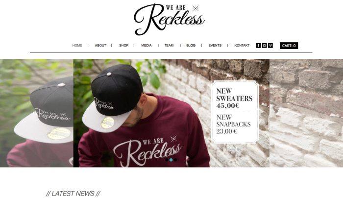 WE ARE RECKLESS Homepage